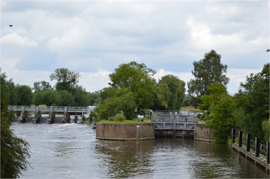 the lock and weir