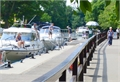 boats queuing at the lock